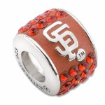 Premier San Francisco Giants MLB Crystal Bead
