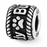 Reflection SimStars Personalized Rope Border and Paw Print Bead