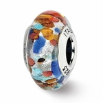 Reflection Simstars Red/Orange/Blue Italian Murano Bead