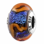 Reflections SimStars Blue Orange Glass Bead