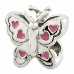 Reflections SimStars Kids Enamel Butterfly Bead