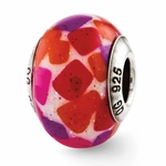 Reflections SimStars Pink Purple Red Italian Murano Glass Bead