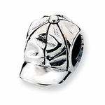 Reflections SimStars Silver Baseball Cap Bead