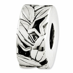 Reflections SimStars Silver Leaf Bali Bead