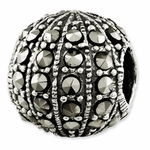 Reflections SimStars Silver Marcasite Bead