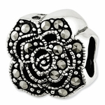 Reflections SimStars Silver Marcasite Flower Bead