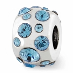 Reflections SimStars Silver March Swarovski Elements Bead