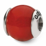 Reflections SimStars Silver Red Quartz Natural Stone Bead