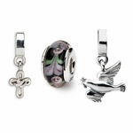 Reflections SimStars Silver Religious Boxed Bead Set