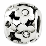 Reflections SimStars Silver Swarovski Elements Flowers Bead