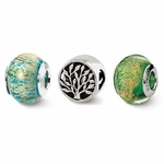 Reflections Trees of Green Boxed Bead Set
