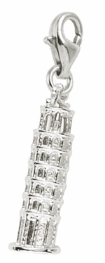 Rembrandt Silver 3-D Leaning Tower of Pisa Lobster Claw Charm