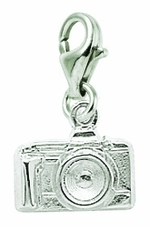 Rembrandt Silver Camera Lobster Claw Charm