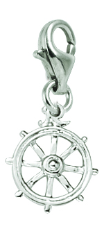 Rembrandt Silver Ships Wheel Lobster Claw Charm