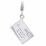 Silver 3-D Letter�to be Mailed Charm