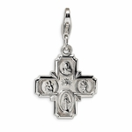 Silver 4-way Medal Charm