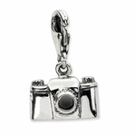 Silver Antiqued Camera Charm