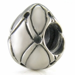 Silver Ohm Easter Egg Bead