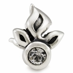 Silver Ohm Flame Bead