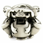 Silver Ohm Happy Boys & Girls Bead