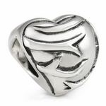 Silver Ohm Heart and Thorns Bead