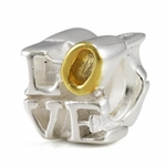 """Silver Ohm Letter """"LOVE"""" Bead"""