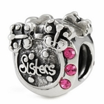 Silver Ohm Sisters Bead