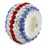 Silver Ohm Sport Team Colors Bead