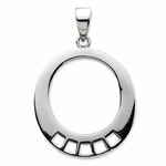 Silver Oval Charm Carrier