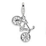Silver Polished Bicycle Charm