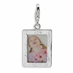 Silver Polished Picture Frame Charm