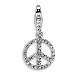 Silver Small Peace Sign Charm