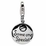 Silver Someone Special Round Charm