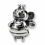SimStars Kids Reflections Silver Bumblebee Bead