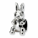 SimStars Kids Reflections Silver Bunny Bead