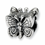 SimStars Kids Reflections Silver Butterfly Bead