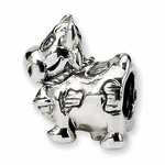 SimStars Kids Reflections Silver Cow w/ Bell Bead