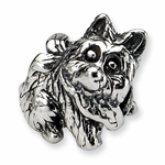 SimStars Kids Reflections Silver Dog Bead