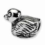 SimStars Kids Reflections Silver Duck Bead