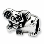 SimStars Kids Reflections Silver Elephant Bead
