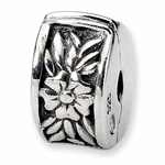 SimStars Kids Reflections Silver Floral Clip Bead