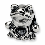 SimStars Kids Reflections Silver Frog Bead