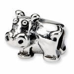 SimStars Kids Reflections Silver Hippo Bead