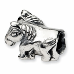 SimStars Kids Reflections Silver Horse Bead