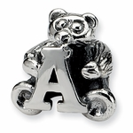 SimStars Kids Reflections Silver Letter A Bead