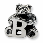 SimStars Kids Reflections Silver Letter B Bead