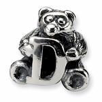SimStars Kids Reflections Silver Letter D Bead