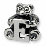 SimStars Kids Reflections Silver Letter E Bead