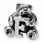 SimStars Kids Reflections Silver Letter F Bead