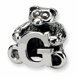 SimStars Kids Reflections Silver Letter G Bead